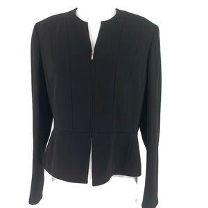 JONES OF NEW YORK~ 12 NWOT Black Zip Blazer Coat